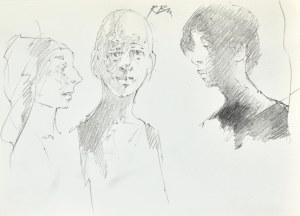 Roman BANASZEWSKI (1932-2021), Szkice kobiety z prawego profilu oraz mężczyzn