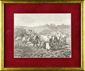 Juliusz KOSSAK (1824-1899), Mohort orze ziemię, w którą wbita jest szabla