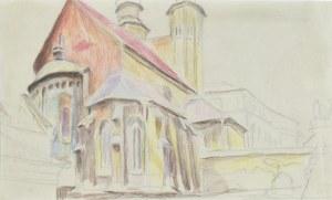 Stanisław KAMOCKI (1875-1944), Kościół św. Andrzeja w Krakowie – widok od południowego wschodu, ok. 1912