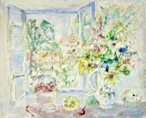 Henryk KRYCH (1905 – 1980), Martwa natura na tle okna