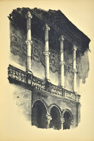 Jan Kanty GUMOWSKI (1883-1946), Fragment krużganku Zamku królewskiego na Wawelu