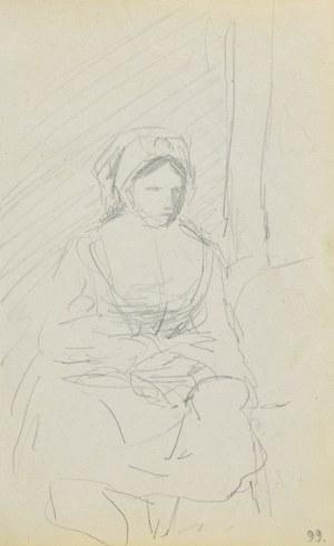 Jacek MALCZEWSKI (1854-1929), Siedząca, młoda kobieta wiejska
