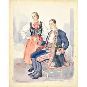 Józef PIENIĄŻEK (1888-1953), Para z Przyszowej, 1933