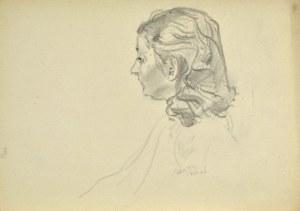 Kasper POCHWALSKI (1899-1971), Szkic portretu kobiecego z profilu