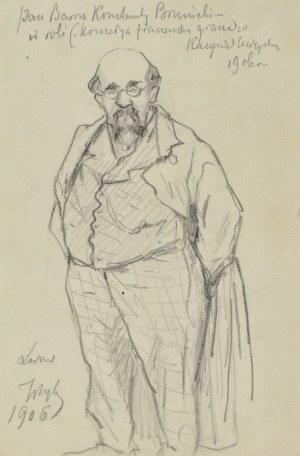 Tadeusz RYBKOWSKI (1848-1926), Postać aktora, 1906
