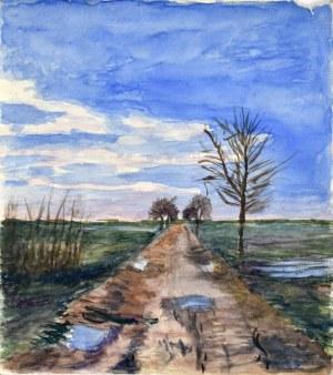 Władysław SERAFIN (1905-1988), Jesień - droga wśród pól