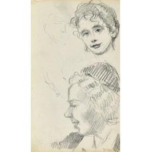 Henryk UZIEMBŁO(1879-1949), Szkice głów kobiecych