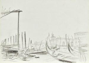 Wojciech WEISS (1875-1950), Gondole w Wenecji