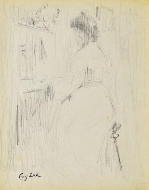 Eugeniusz ZAK (1887-1926), Kobieta przy pianinie II