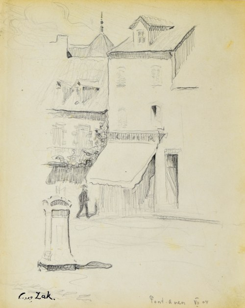 Eugeniusz ZAK (1887-1926), Motyw z Pont - Aven, 1904