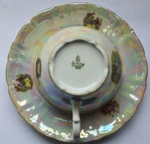 Filiżanka ze spodkiem z bawarskiej porcelany, Winterling