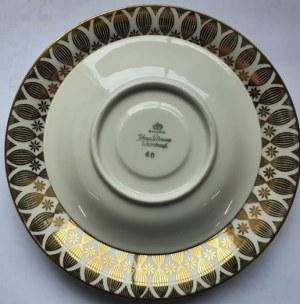 Zestaw dwóch, porcelanowych talerzyków, Johann Seltmann, Vohenstrauss, koniec lat 1940-początek 1950