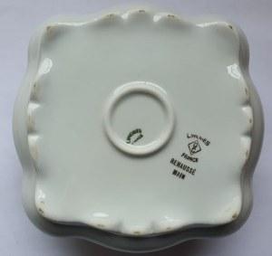Bomboniera / cukiernica z ręcznie malowanej porcelany z Limoges
