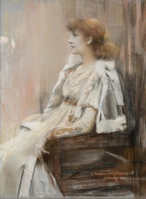 Teodor Axentowicz (1859 Braszów/Rumunia - 1938 Kraków), Portret Sarah Bernhardt w trzecim akcie