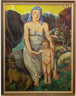 Mela Muter (1876 Warszawa - 1967 Paryż), Kobieta z dzieckiem, przed 1939 r.