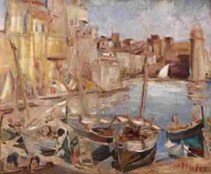 Mela Muter (1876 Warszawa - 1967 Paryż), Port Collioure, lata 20-te XX w.