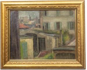 Olga Boznańska (1865 Kraków - 1940 Paryż), Widok z paryskiej pracowni artystki, 1907 r.