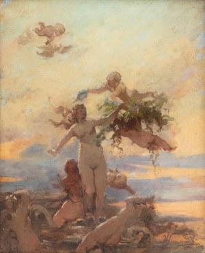 Henryk Siemiradzki (1843 Pieczeniegi k. Charkowa - 1902 Strzałkowo k. Częstochowy), Narodziny Wenus (Nimfy wodne) , lata 1880-te