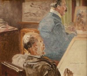 Jacek Malczewski (1854 Radom - 1929 Kraków), W pracowni artysty, 1903 r.