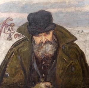 Wlastimil Hofman (1881 Praga - 1970 Szklarska Poręba), Wędrowiec [Sybirak], 1921 r.