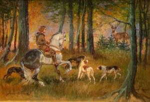 Jerzy Kossak (1886 Kraków - 1955 tamże), Św. Hubert, 1942 r.