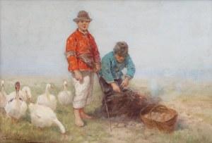 Adam Setkowicz (1875 Kraków - 1945 tamże), Pieczenie ziemniaków