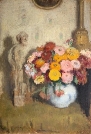 Alfons Karpiński (1875 Rozwadów - 1961 Kraków), Cynerarie, 1929 r.