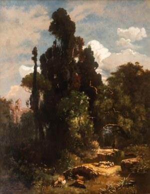 Henri D. Roszezewski (XIX w.), Krajobraz włoski, 1891 r.