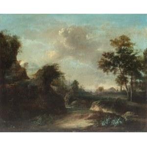 Jan Wynants (1632-1684) przypisywany, Pejzaż ze sztafażem