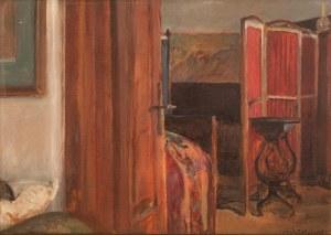 Jacek Malczewski (1854 Radom - 1929 Kraków), Wnętrze sypialni w Lusławicach, 1926 r.
