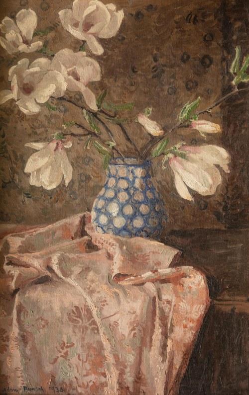 Adam Bunsch (1896 Kraków - 1963 tamże), Magnolie w wazonie, 1930 r.