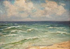 Stefan Filipkiewicz (1879 Tarnów - 1944 Mauthausen), Burzliwe morze – widok z Jastrzębiej Góry