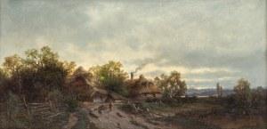 Zygmunt Sidorowicz (1846 Lwów - 1881 Wiedeń), Pejzaż z chatami