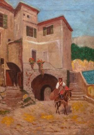 Roman Bratkowski (1869 Lwów - 1954 Wieliczka), Uliczka w San Remo, 1911 r.