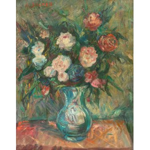 Jakub Zucker (1900 Radom - 1981 Nowy Jork), Martwa natura z kwiatami