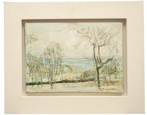 Joseph Pressmane (1904 Beresteczko- 1967 Paryż), Pejzaż z drzewami