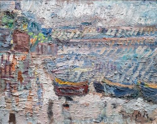 Jan Cybis (1897 Wróblin - 1972 Warszawa), Brzeg morza, 1950 r.