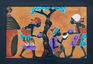 Samba Diabarare, Kobiety w wiosce w cieniu drzewa