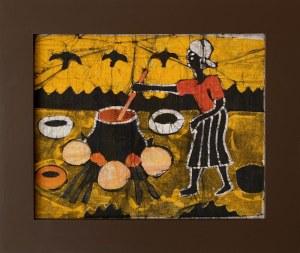 Sainey, Kobieta gotująca na palenisku