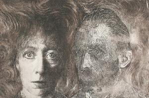 Krystyna PIOTROWSKA (ur. 1946), Autoportret z Vincentem, 1993
