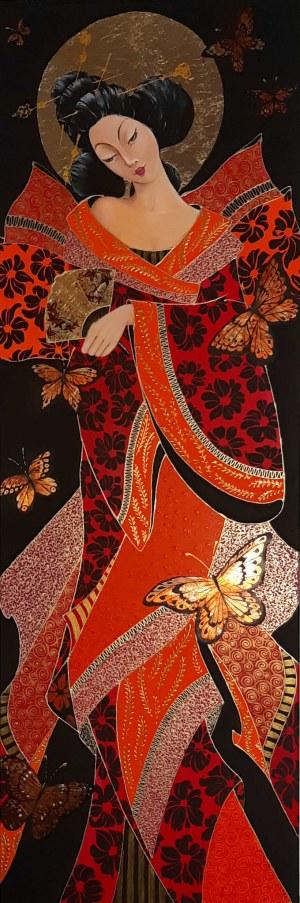 Iwona Wierkowska-Rogowska, Gejsza i motyle, 2020