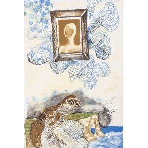 "Jan Lebenstein, Ilustracja do wydania poezji Eugenio Montale ""Cinquante Ans De Poesie"", 1972"