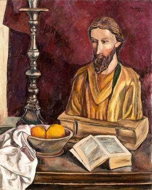Szymon Mondzain, MARTWA NATURA ZFIGURĄ ŚW. MICHAŁA, 1925