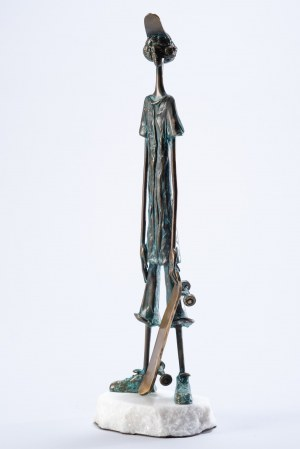 Paweł Erazmus, Deskorolkarz (Brąz, wys. 37 cm)