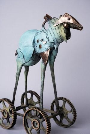D.Z., Koń Trojański (Brąz, wys. 47 cm)