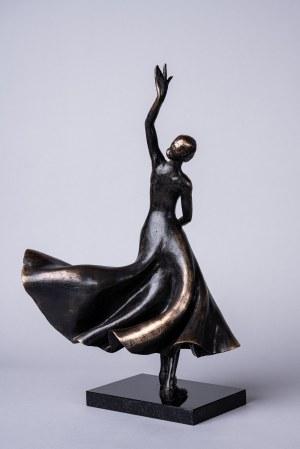 Joanna Zakrzewska, Tancerka Flamenco (Duża. Brąz, wys. 45 cm)