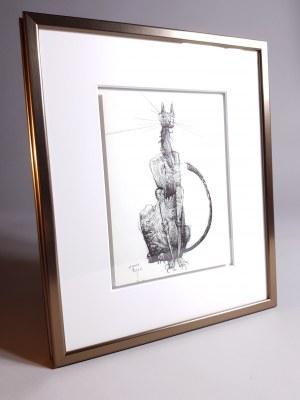 Robert Dyrcz, Koty (Zestaw dwóch rysunków)
