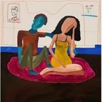 Paulina ROBOTYCKA (ur. 2000), Kobieta i mężczyzna na amarantowym dywan