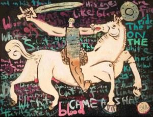 Battler, Jeździec na białym koniu, 2021