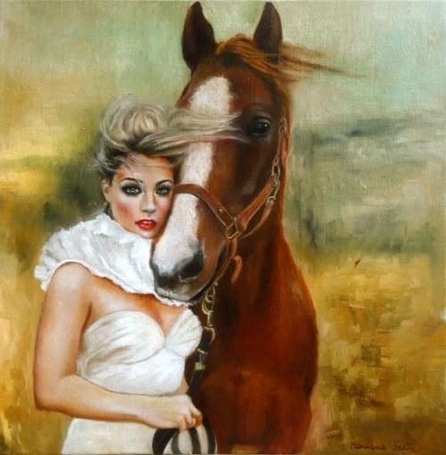 Marlena Selin, Dziewczyna i koń, 2021